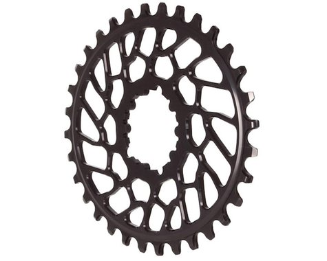 Absolute Black BB30 Direct Mount Oval Ring (Black) (0mm Offset) (32T)