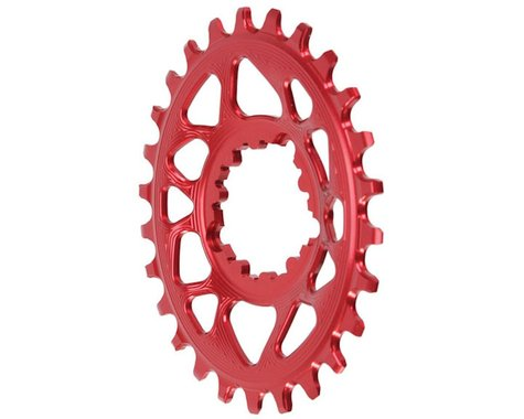 Absolute Black Spiderless GXP Direct Mount Oval Ring (Red) (6mm Offset) (26T)