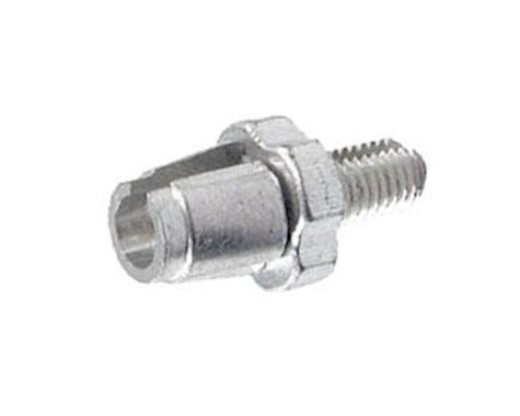 Alligator Barrel Adjuster with Nut, (7mm) Silver - 10/Bottle