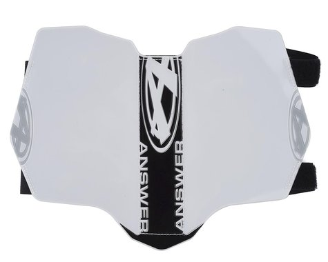 Answer BMX Side Number Plate (White/Black)