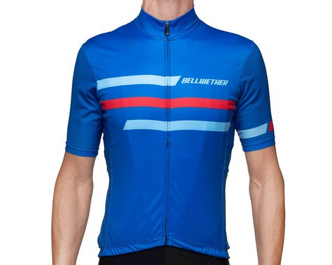 Bellwether Edge Cycling Jersey (True Blue/Red) (S)