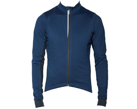 Bellwether Men's Thermal Long Sleeve Jersey (Navy) (S)