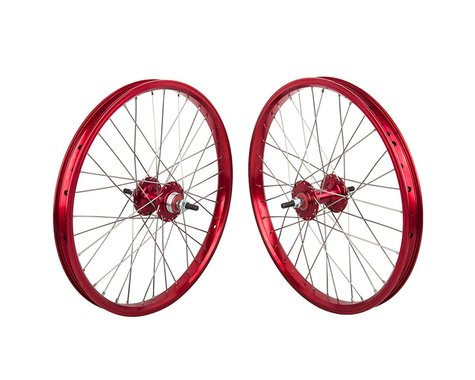 """Black Ops DW1.1 20"""" Wheel Set (Red/Silver/Red) (3/8"""" Axle)"""
