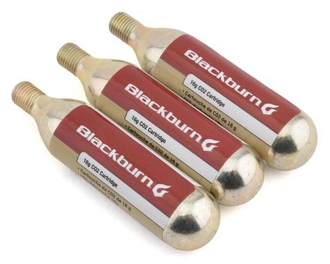Blackburn Threaded CO2 Cartridges (Silver) (3 Pack) (16g)