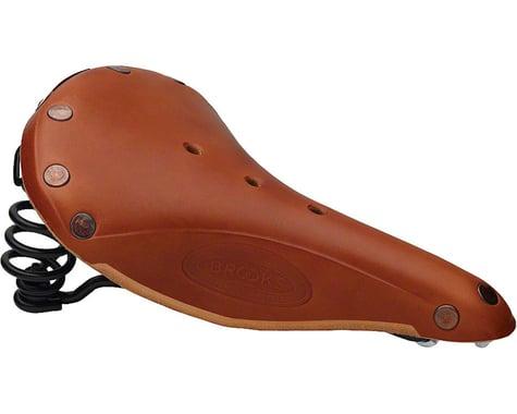 Brooks Flyer Special Men's Leather Saddle (Honey) (Black Steel Rails) (175mm)