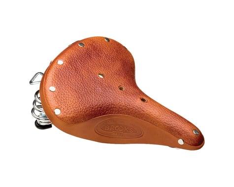 Brooks B67 S Women's Saddle (Honey) (Black Steel Rails) (210mm)