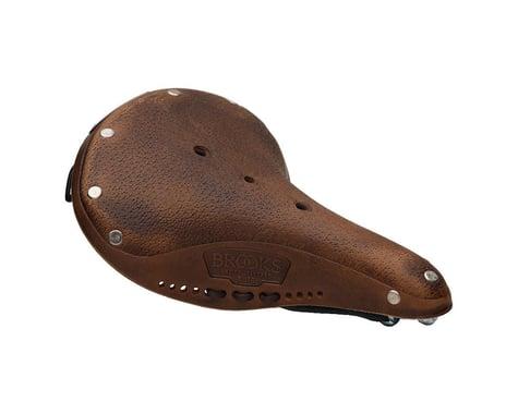 Brooks B17 Softened Women's Saddle (Dark Tan) (Black Steel Rails) (177mm)