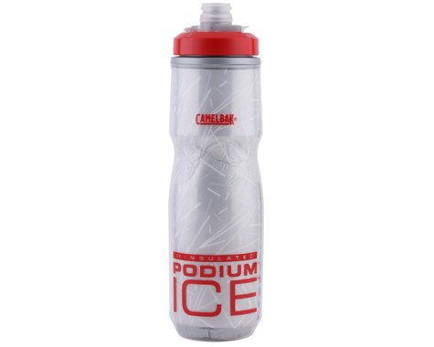 Camelbak Podium Ice Insulated Water Bottle (Fiery Red/White) (21oz)