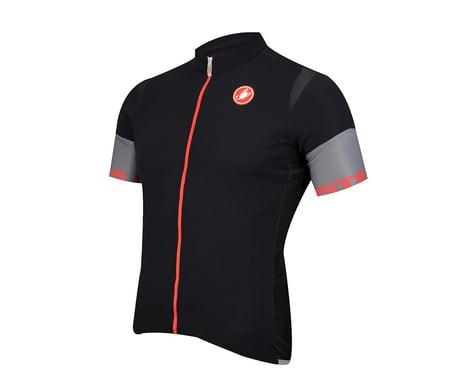Castelli Entrata 2 FZ Short Sleeve Jersey (Black/Red)