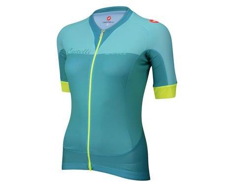 Castelli Women's Aero Race FZ Short Sleeve Jersey (Pink/Magenta)