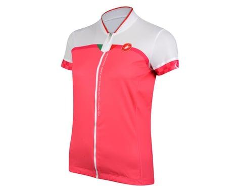 Castelli Women's Duello Short Sleeve Jersey (White/Pink)