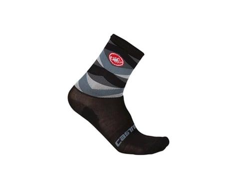 Castelli Fatto 12 Socks (Matte Black/High Vis)