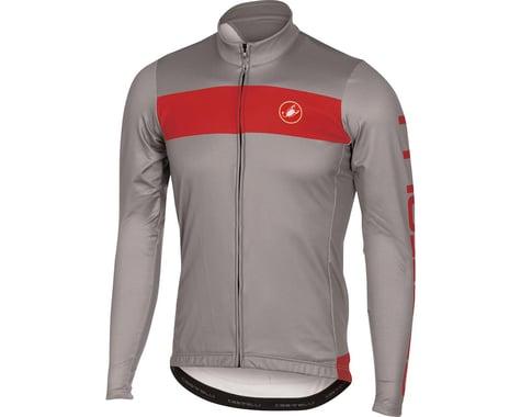 Castelli Raddoppia FZ Long Sleeve Jersey (Matte Grey/Red)