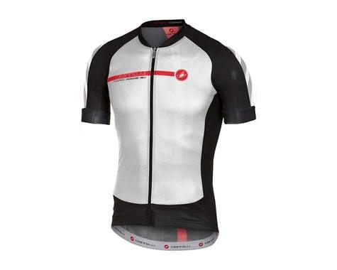 Castelli Aero Race 5.1 FZ Short Sleeve Jersey (Matte White/Black)