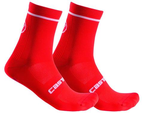 Castelli Entrata 13 Sock (Red) (S/M)