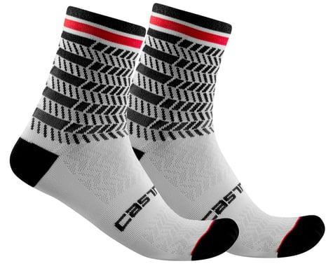 Castelli Avanti 12 Sock (Black/White) (S/M)