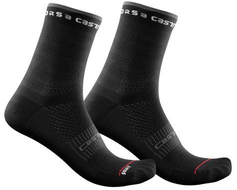 Castelli Rosso Corsa 11 Women's Sock (Black) (S/M)