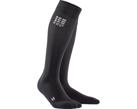 CEP Recovery+ Merino Compression Socks - 10 inch, Black, Men's, Medium