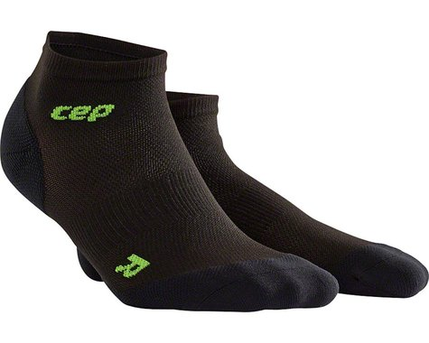 CEP Dynamic+ UltraLight Low Cut Women's Compression Sock: White/Green IV