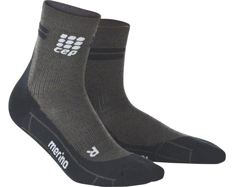CEP Dynamic+ Merino Cycle Short Men's Socks (Anthracite/Black V)