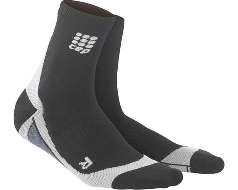 CEP Dynamic+ Short Men's Compression Sock: White/Black V