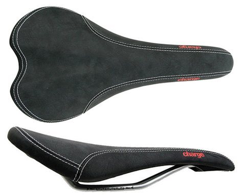 Charge Bikes Spoon Saddle (Black/Red) (Chromoly Rails) (140mm)