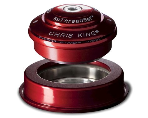 """Chris King InSet 2 Headset (Red) (1-1/8"""" to 1-1/2"""") (ZS44/28.6) (ZS56/40)"""