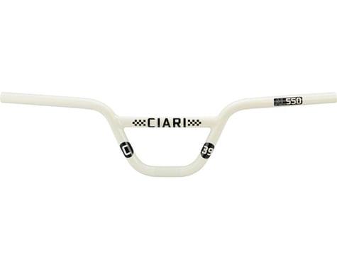 "Ciari Attabar AL550 BMX Handlebar - 5.5"", White"