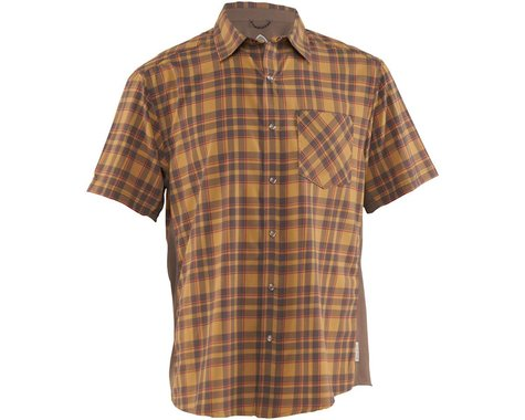Club Ride Apparel Detour Short Sleeve Shirt (Khaki/Cayenne) (S)