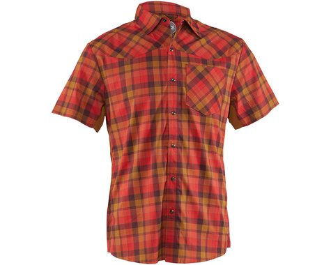 Club Ride Apparel New West Short Sleeve Shirt (Flame) (S)