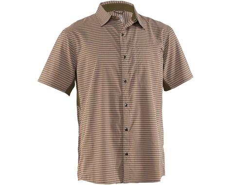 Club Ride Apparel Men's Vibe Short Sleeve Shirt (Grey Stripe) (M)