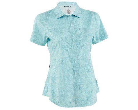Club Ride Apparel Women's Camas Short Sleeve Jersey (Angel Blue Print) (XS)