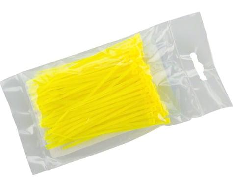 """Cobra Ties 6"""" x 18lb (155 x 2.5mm) Miniature Zip Ties, Fluoresent Yellow, Bag of"""