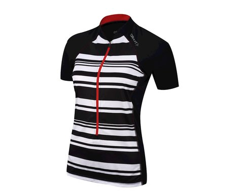 Craft Women's Path Short Sleeve Jersey (Black/White)