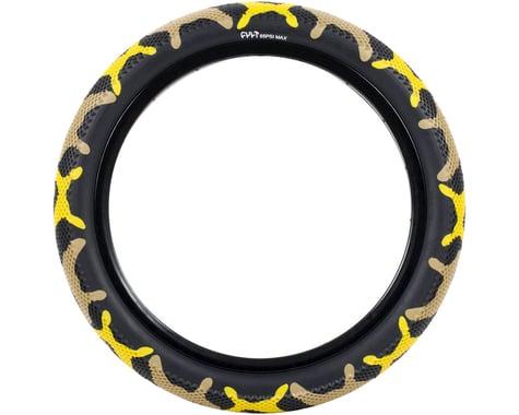 "Cult Vans Tire (Yellow Camo/Black) (Wire) (20"") (2.4"")"