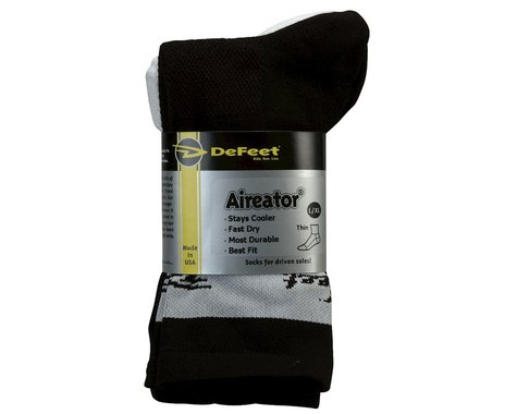 DeFeet Aireator HiTop Performance Socks - 3 Pack - Performance Exclusive (Black/White)