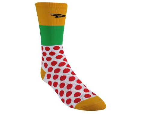 """DeFeet Aireator Maillots Du Tour 6"""" Socks (Red/Yellow/Green)"""