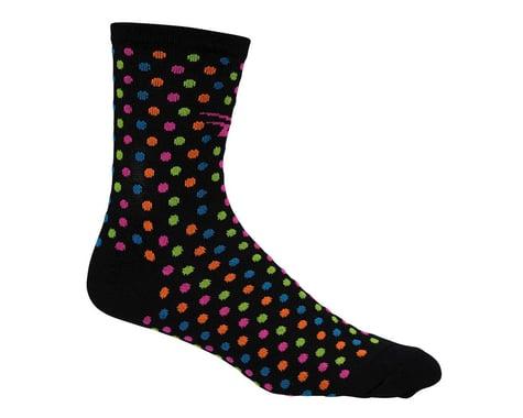 """DeFeet Women's Aireator 4"""" Spotty Sock (Black) (M)"""
