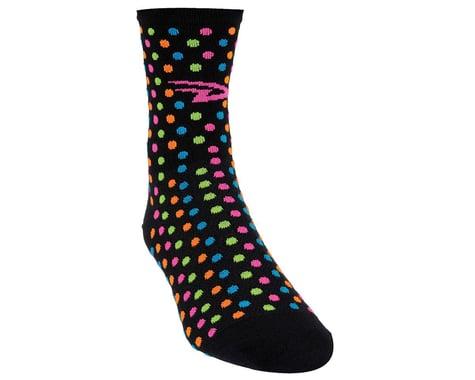 """DeFeet Women's Aireator 4"""" Spotty Sock (Black) (XL)"""