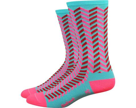 "DeFeet Aireator 6"" Barnstormer Vibe Socks (Neptune/Flamingo Pink) (M)"