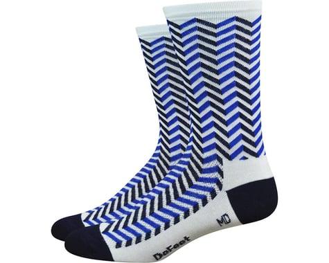 """DeFeet Aireator 6"""" Barnstormer Vibe Socks (White/Navy Blue) (M)"""