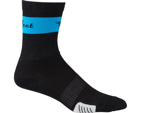 DeFeet Cyclismo Socks (Black/Blue Stripe) (S)
