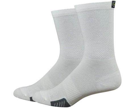"""DeFeet Cyclismo 5"""" Socks (White) (XL)"""
