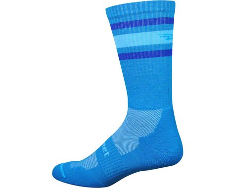 DeFeet D-Evo Crew Sock (Process Blue/Blue Stripes)