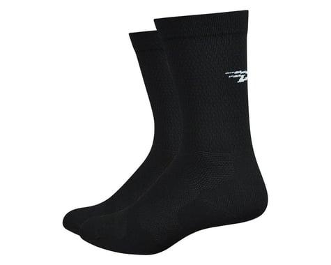 """DeFeet Levitator Lite 6"""" Socks (Black) (M)"""