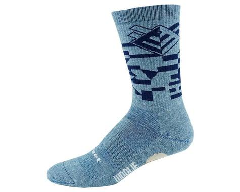 DeFeet Woolie Boolie Comp Socks (Razzle/Sapphire Blue) (M)