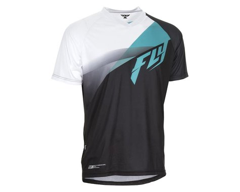 Fly Racing Super D Jersey (Black/White/Blue)