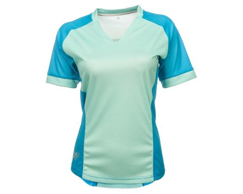 Fly Racing Lilly Ladies Jersey (Turquoise) (XS)