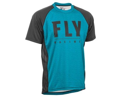 Fly Racing Super D Jersey (Blue Heather/Black) (L)