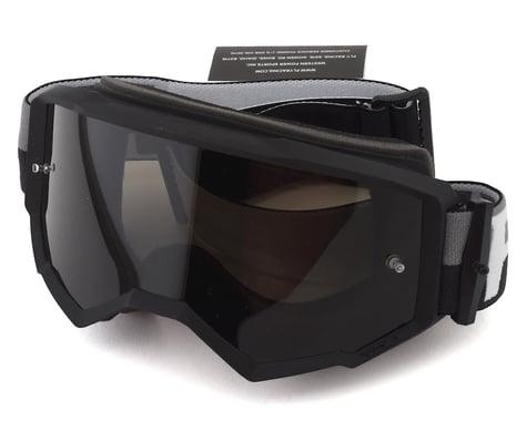 Fly Racing Zone Goggle (Black/Silver) (Mirror Smoke Lens)